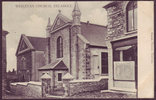 Wesleyan Chapel, Delabole, St Teath, c.1905